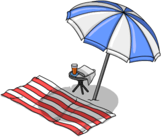 Tapped_Out_Beach_Towel_and_Umbrella.png
