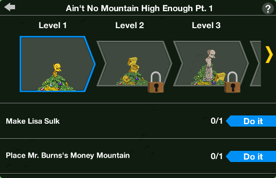 Tapped Out Money Mountain Level Up.png