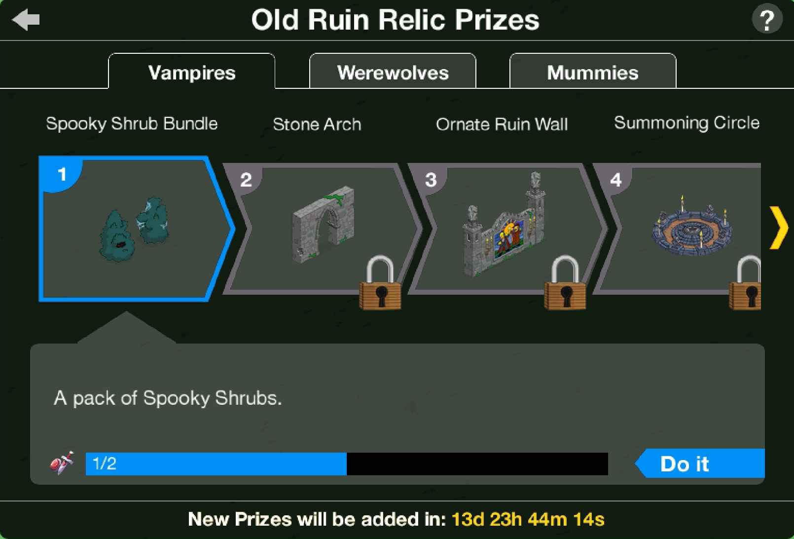 THOHXXIX Old Ruins Relic Act 1 Prizes.png
