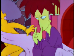 Black Widower Selma Bouvier and Sideshow Bob.png