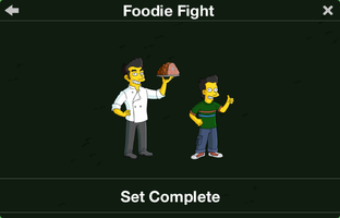 The Simpsons: Tapped Out characters/Foodie Fight