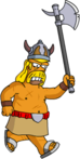 Tapped Out Barbarian Chase Homer with an Axe1.png