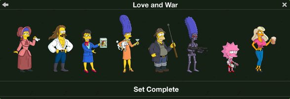 The Simpsons: Tapped Out characters/Love and War