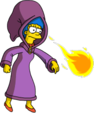 Tapped Out MargeWizard Throw Fireballs.png