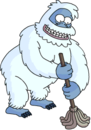 Tapped Out SnowMonster Do Some Volunteering.png
