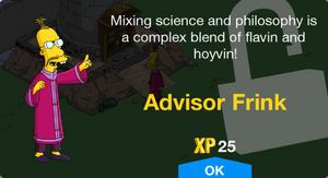 Advisor Frink Unlock.png