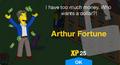 Arthur Fortune Unlock.png