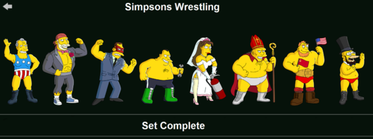 The Simpsons: Tapped Out characters/Simpsons Wrestling
