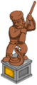 Jebediah Springfield and Snake Statue .png