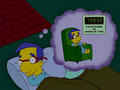 Milhouse Dreaming Time to Wake up.png