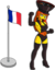 France Flag and Charcoal Briquette.png