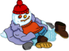 Homer Fever Snowman melted.png