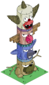 Tapped Out Krusty Totem Pole.png