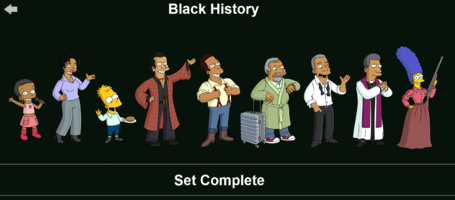 The Simpsons: Tapped Out characters/Black History