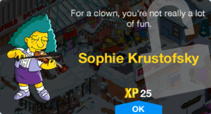 Tapped Out Sophie Krustofsky Unlock.png