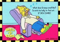 P3 Grampa Simpson (Skybox 1994) front.jpg