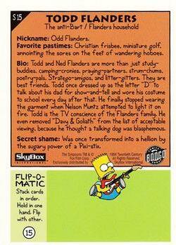 S15 Todd Flanders (Skybox 1994) back.jpg
