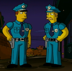 Kissing Cops Wikisimpsons The Simpsons Wiki