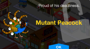 Tapped Out Mutant Peacock Unlock.png