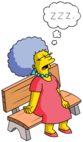 Tapped Out Patty Nap on a Bench.png