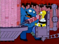 Homer Forcefed Doughnuts - The Devil and Homer Simpson.png