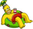 Tapped Out Homer Lounge in the Pool.png