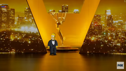 Homer Simpson Takes The Emmy Stage.png