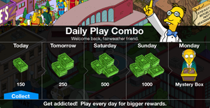 Tapped out daily prizes biz