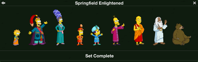 The Simpsons: Tapped Out characters/Springfield Enlightened