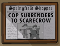 Springfield Shopper Cop Surrenders to Scarecrow.png