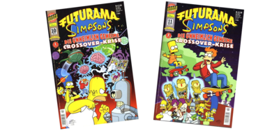 Futurama Simpsons Crossover German logo.png
