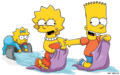 Bart, Lisa and Maggie playing.png