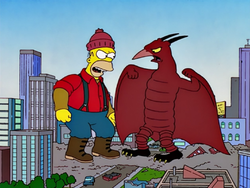 Paul Bunyan fighting Rodan.png