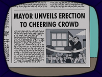 Springfield Shopper- Mayor Unveils Erection to Cheering Crowd.png