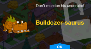 Tapped Out Bulldozer-saurus Unlocked.png