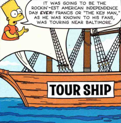 Bart Simpsons Report On Francis Scott Key
