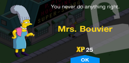 Tapped Out Mrs. Bouvier unlock.png