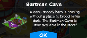 Tapped Out Bartman Cave Ad.png