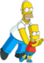 Homer and Bart You Don't Win Friends With Salad.png