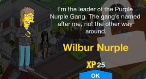 Wilbur Nurple Unlock.png