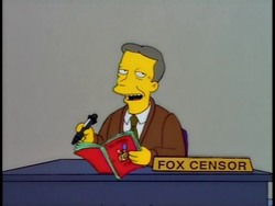 Fox censor - Treehouse of Horror VIII.png