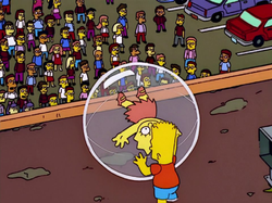 Bart Rolling Lisa in Bubble.png