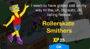 Rollerskate Smithers Unlock.png