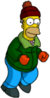 Tapped Out Homer Pretend to Ski.png