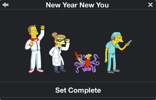 The Simpsons: Tapped Out characters/New Year New You