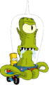 Tapped Out Bart Run away with Kang.png