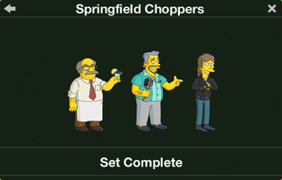 The Simpsons: Tapped Out characters/Springfield Choppers