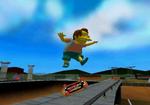Simpsons skateboarding gameplay.png