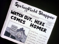 Springfield Shopper - Watch Out, Here Comes Homer.png