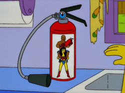 Wonder Woman George Foreman fire extinguisher.png